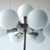 1970s Glass Chrome Floor Lamp