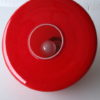 1970s Red Glass Ceiling Light 3