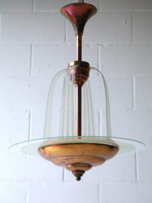 Art Deco Chandelier by Petitot France 1