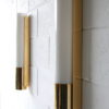 Brass and Glass Wall Lights or Sconces by Glashutte Limburg 1