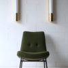 Brass and Glass Wall Lights or Sconces by Glashutte Limburg
