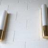 Brass and Glass Wall Lights or Sconces by Glashutte Limburg 2