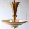 French Art Deco Brass Ceiling Light 2