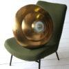 French Art Deco Brass Ceiling Light 5