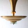 French Art Deco Brass Ceiling Light 8
