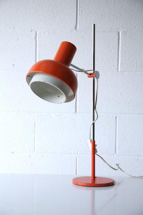 Large Orange 1970s Desk Lamp 4