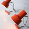 Orange 1960s Desk Lamps by Josef Hurka for Napako 1