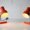 Orange 1960s Desk Lamps by Josef Hurka for Napako