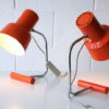 Orange 1960s Desk Lamps by Josef Hurka for Napako 2