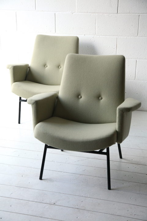 Pair of 1950s SK660 Armchairs by Pierre Guariche 1