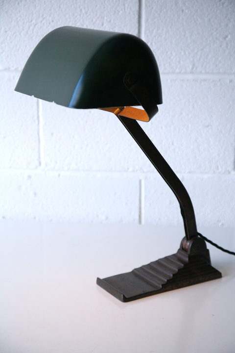 Rare 1930s Belgian Desk Lamp