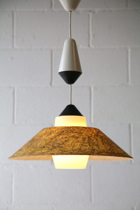 Rare 1950s Fibreglass Ceiling Light by Phillips 3