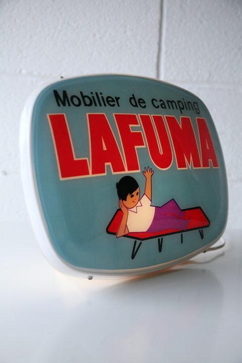 Rare Vintage Lafuma Advertising Lamp
