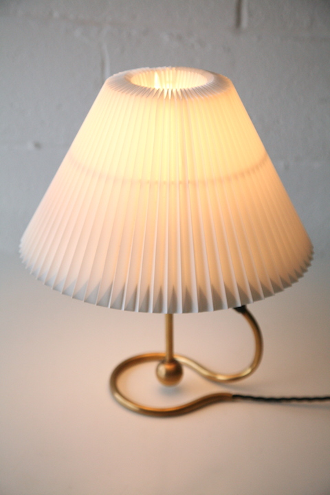 Vintage Brass Le Klint 306 Table Wall Lamp Cream And Chrome