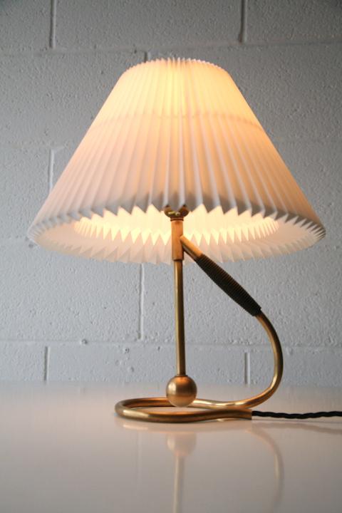 vintage brass le klint 306 table wall lamp cream and chrome