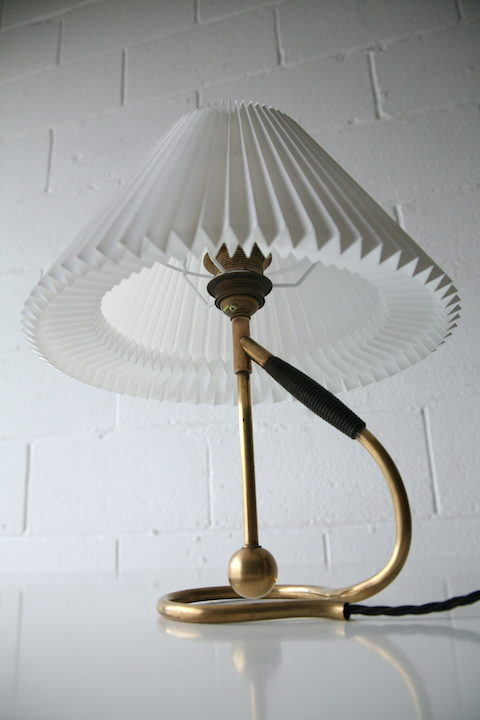Vintage Brass Le Klint 306 Table Wall Lamp 4