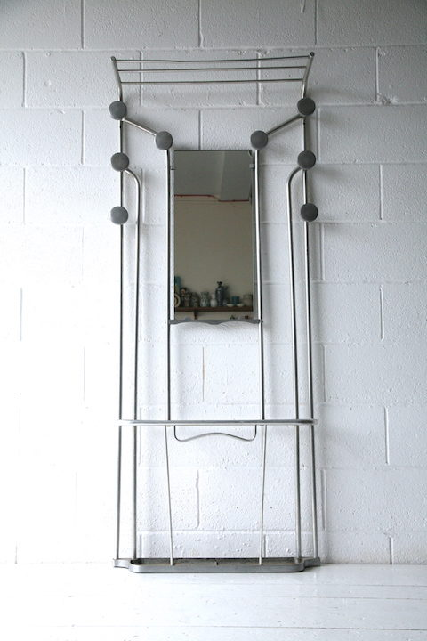Vintage French 1950s Aluminium Hall Stand 2