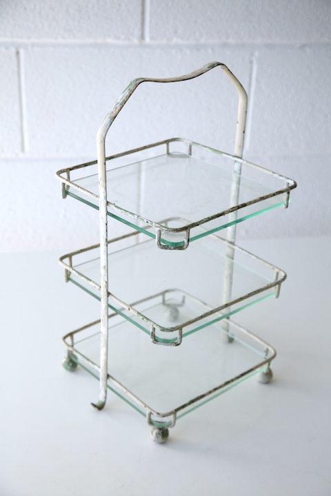 Vintage Glass Cake Stand 2