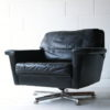 Vintage Leather Swivel Chairs 1