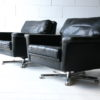 Vintage Leather Swivel Chairs 2