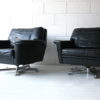 Vintage Leather Swivel Chairs 5