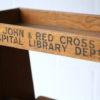 Vintage Oak Hospital Book Trolley 1