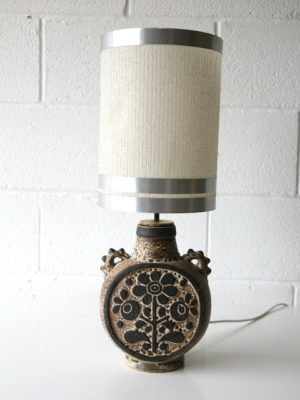 1960s Ceramic Lamp with Shade 1