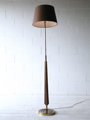 1960s French Teak Floor Lamp