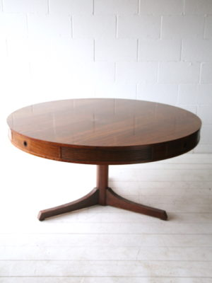 1960s Rosewood Drum Dining Table by Robert Heritage