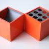 Pair of Cubo Desk Tidys by Bruno Munari for Danese 1