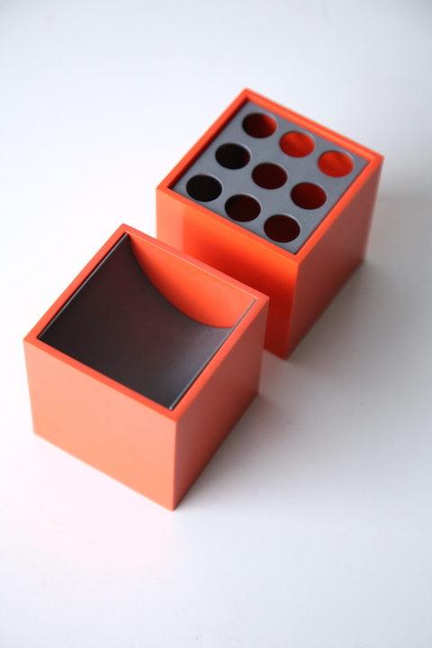 Pair of Cubo Desk Tidys by Bruno Munari for Danese