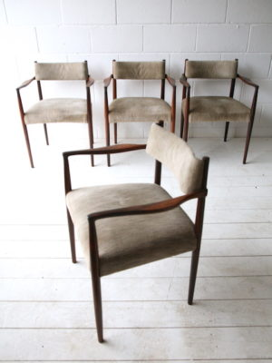 Rare 1960s Rosewood Chairs by Robert Heritage 1