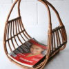 Vintage Wicker Magazine Basket 1