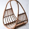 Vintage Wicker Magazine Basket