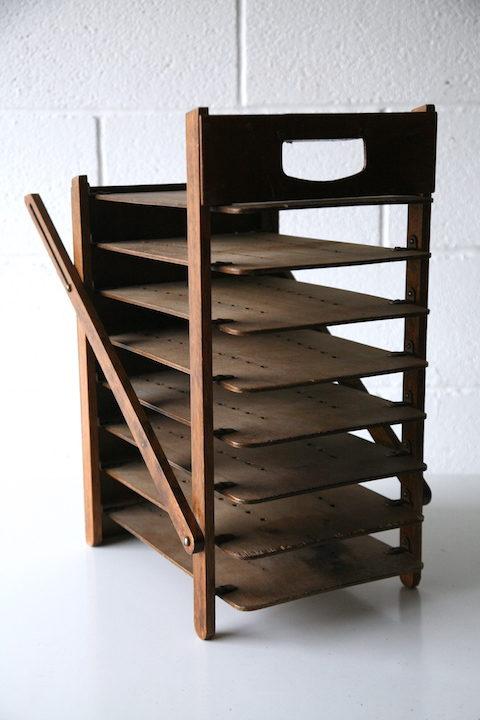 Vintage Wooden Folding Desk File