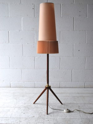 1950s Teak Tripod Floor Lamp