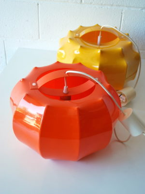 1970s Plastic Ceiling Lights