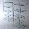 Vintage Chrome Glass Shelves 1