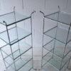 Vintage Chrome Glass Shelves 2