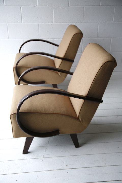 1930s Armchairs by Jindrich Halabala 5