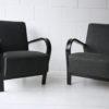1930s Black Armchairs by Jindrich Halabala 5