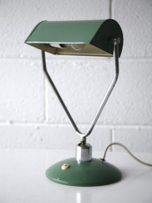 1930s Green Desk Lamp by Napako 1