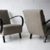 1930s Grey Armchairs by Jindrich Halabala 3