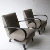 1930s Grey Armchairs by Jindrich Halabala 4