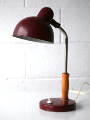 1930s Red Oak Desk Lamp