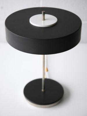 1950s Black Czechoslovakian Table Lamp 3