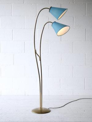 1950s Brass Double Floor Lamp 3