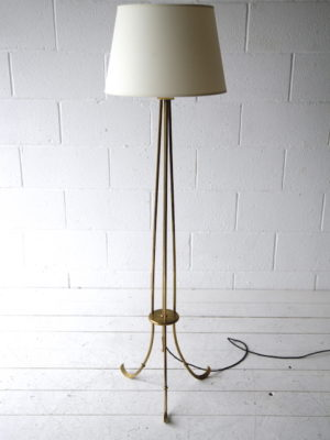 1950s French Brass Floor Lamp 5