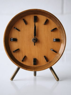 1950s Rosewood Mantle Clock by Kienzle