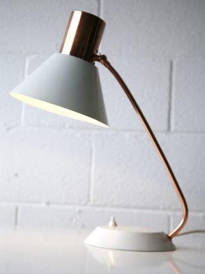 1960s Copper Czechoslovakian Desk Lamp